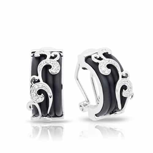 belle etoile reina black earrings