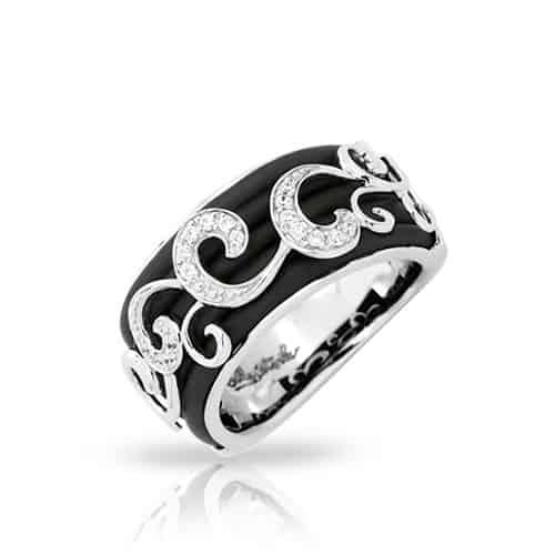 belle etoile reina black ring