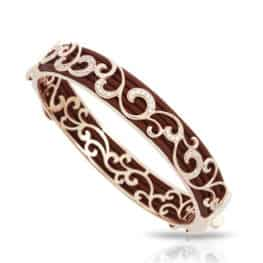 belle etoile reina brown rose gold bangle