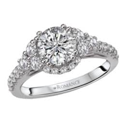 Romance classic diamond engagement ring.