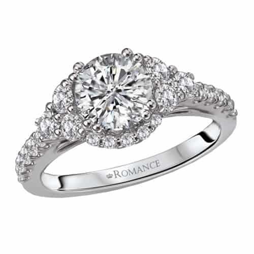 Romance classic diamond engagement ring.