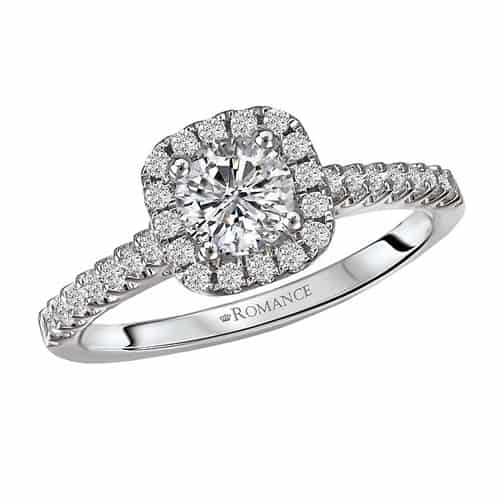 Romance Halo Diamond Engagement Ring