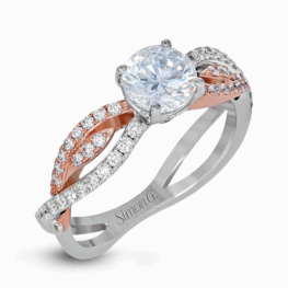 simon g two tone swirl engagement ring
