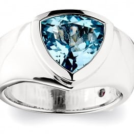 Elle Triangle Blue Topaz Ring