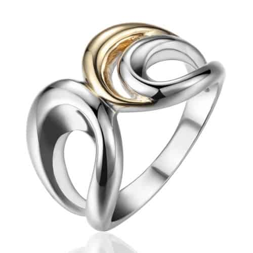 Elle Two Tone C-Shaped Ring