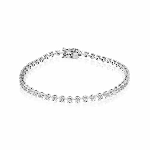 Meira T White Gold Diamond Tennis Bracelet.